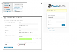 wordpress novo usuario 300x201 Protegendo o login do WordPress contra força bruta (wordpress bots)